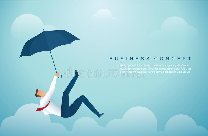 Man falling down from the sky. business concept vector illustration stock illustration