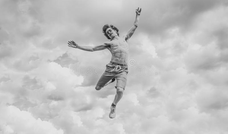 Man falling from sky royalty free stock photography