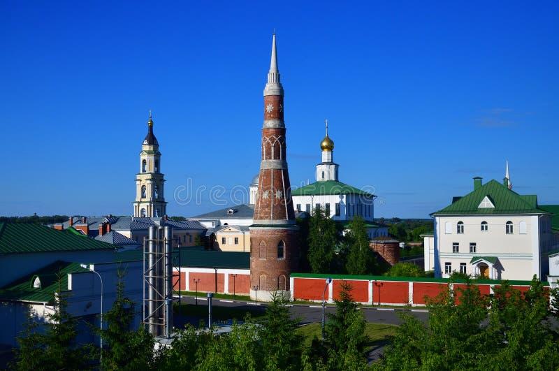 man& famoso x27 de Staro-Golutvin do esmagamento; monastério de s dentro de Kolomna, Rússia fotos de stock