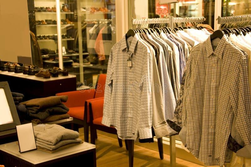 Man fashion store stock image