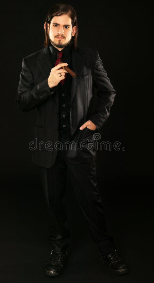 Man In Fashion Suit royalty free stock photo