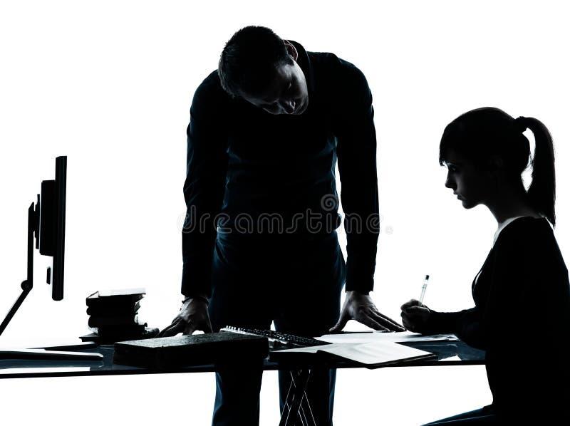 Man Father Teacher Student Girl Teenager Homework Stock Image