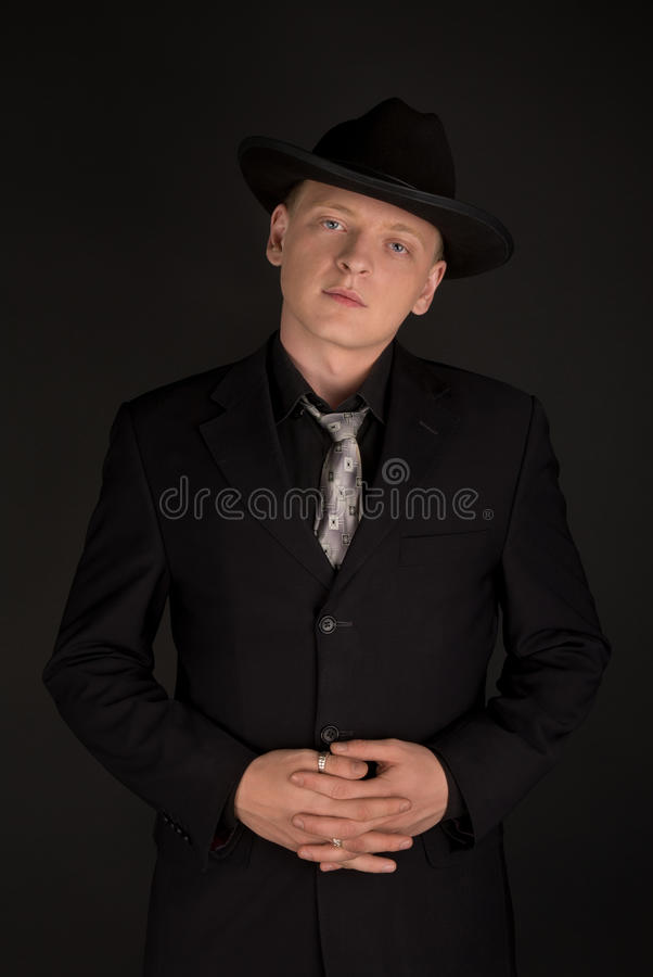 Man in fedora royalty free stock photography