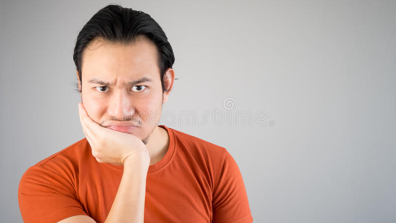 Seriouse Young Man Stock Image Image Of Seriouse Brown