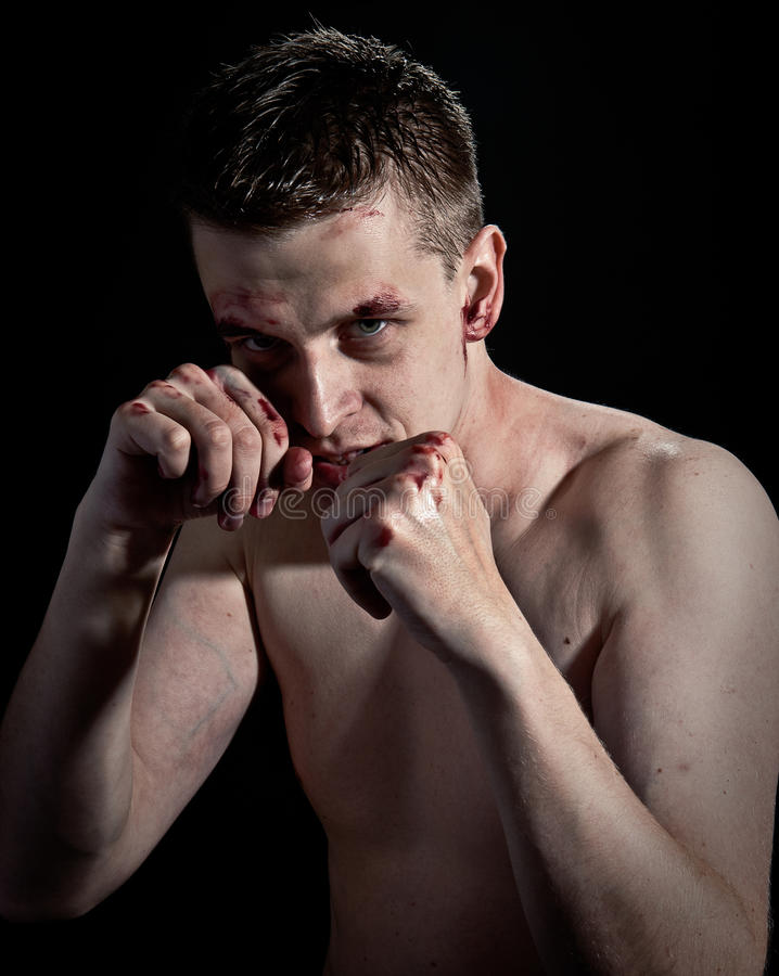 Download Man fighting stock photo. Image of blood, face, attack - 12475072