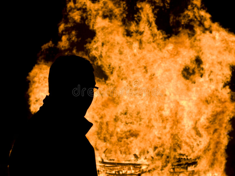 Download Man and fire stock photo. Image of arson, fawkes, heat - 3576546