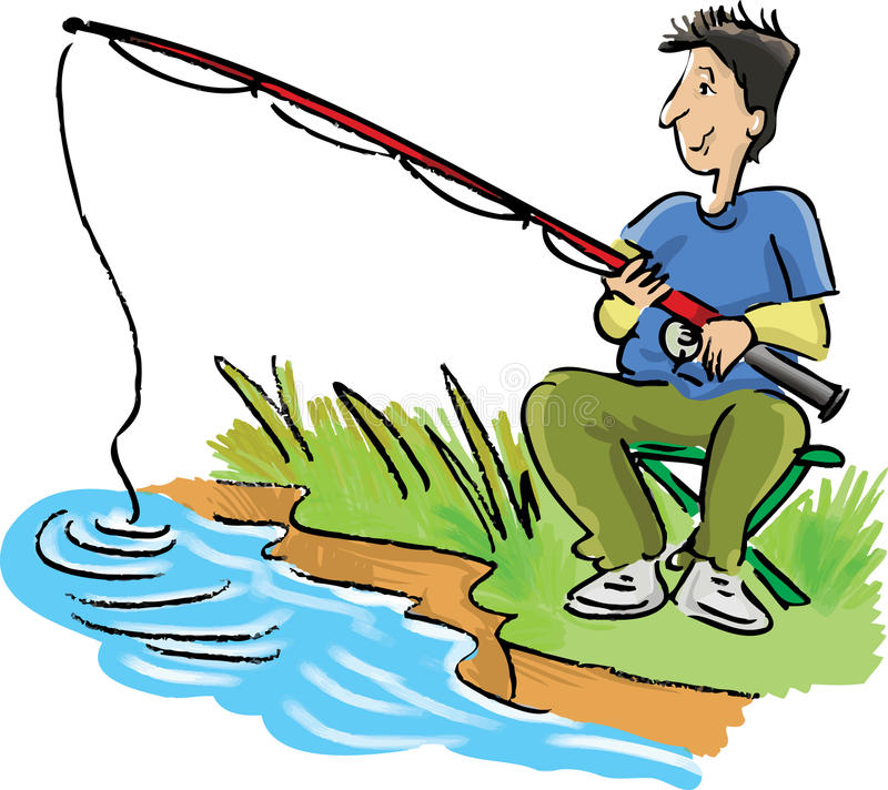 Man Fishing Stock Vector Image 56730597