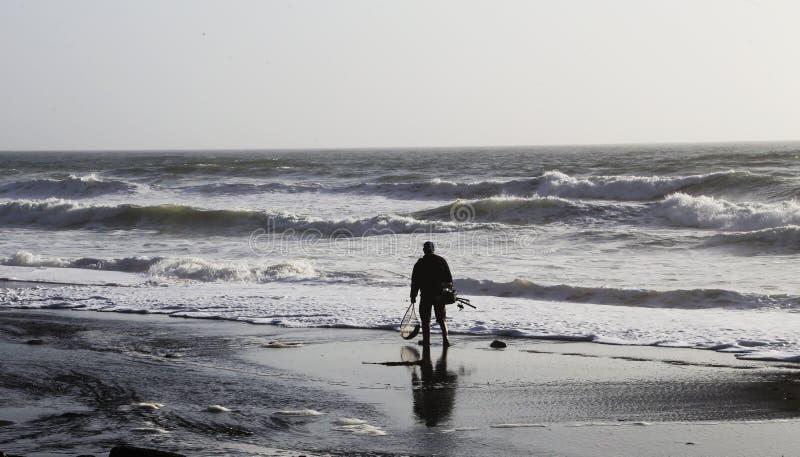 Man fishing at San francisco royalty free stock photography