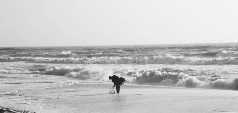 Man fishing. San Francisco stock images
