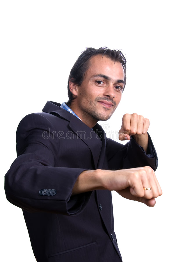 Download Man with fists stock image. Image of positive, male, confident - 3225587