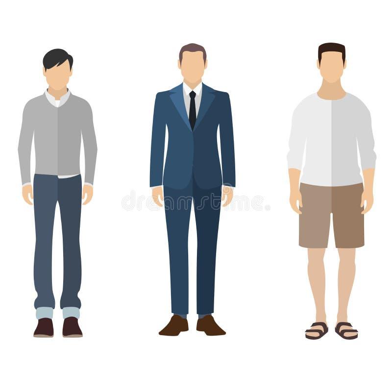 Man flat style icon people figures set stock photos