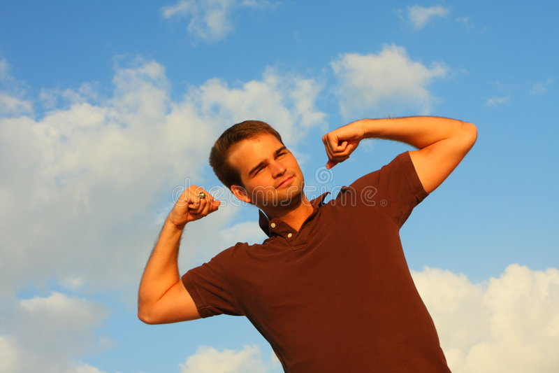 Download Man Flexing stock photo. Image of healthy, strength, muscles - 5087126