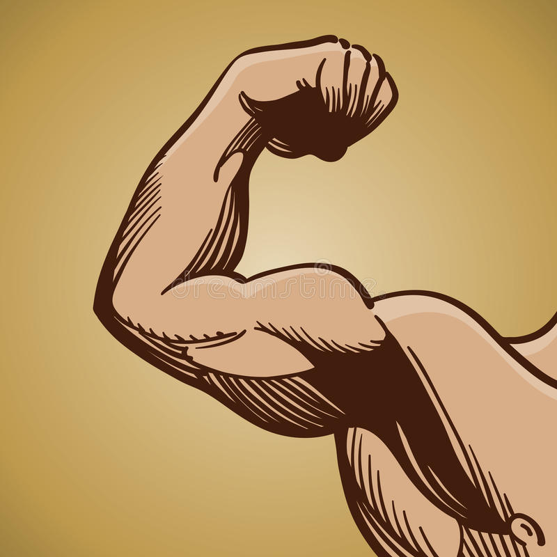 Free Man Flexing Arm Muscle Stock Images - 20484564