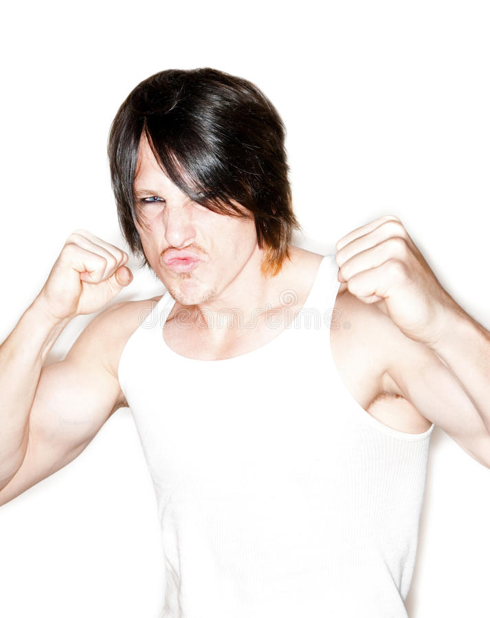 Download Man Flexing His Biceps And Making A Face Stock Photo - Image: 12029108