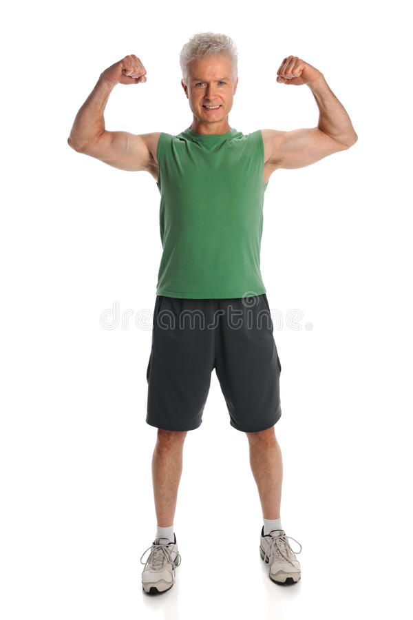 Download Man Flexing Muscles stock photo. Image of caucasian, male - 16165282