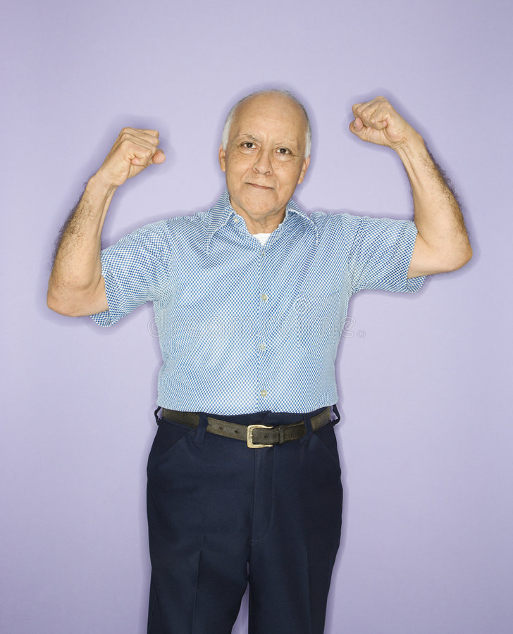 Download Man flexing muscles. stock image. Image of hairline, indoors - 2037603