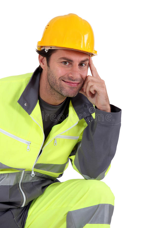 Download Man In Fluorescent Overalls Stock Photo - Image: 21649220
