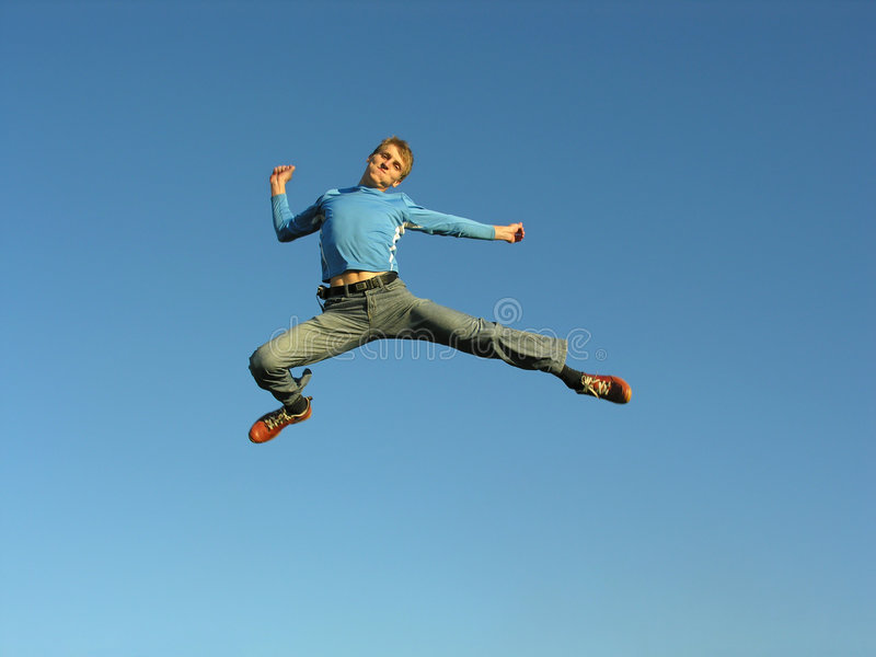 Man fly royalty free stock image