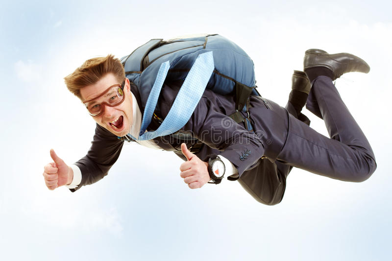 Download Man flying stock image. Image of parachutist, cheerful - 16288377