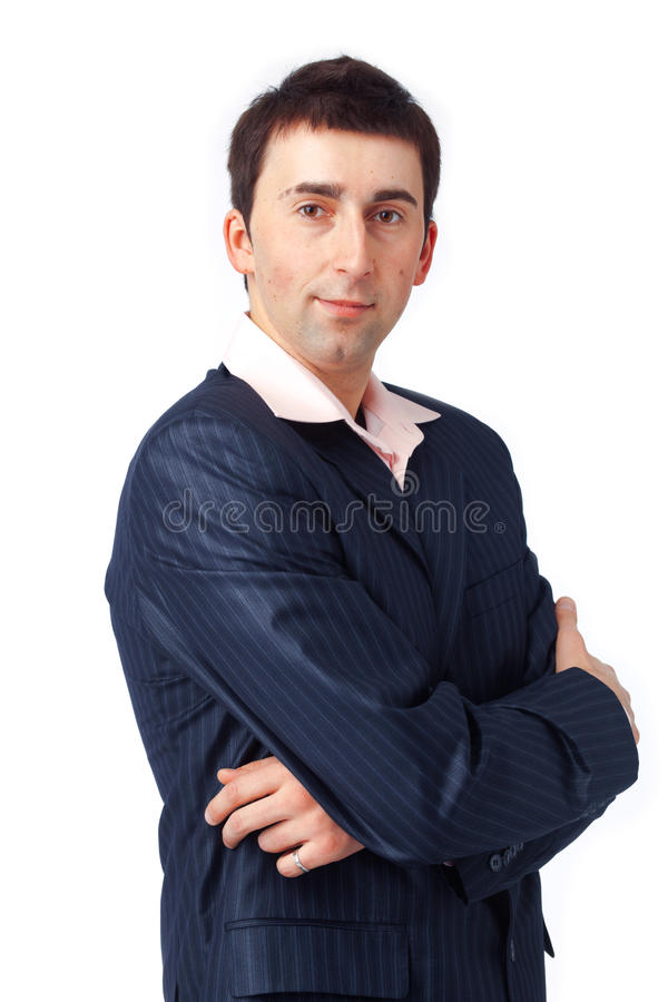 Man with Folded Hands stock photo