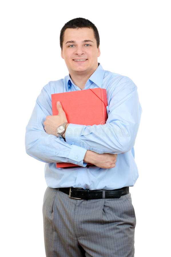 Download Man and a folder stock photo. Image of office, paper - 12855040