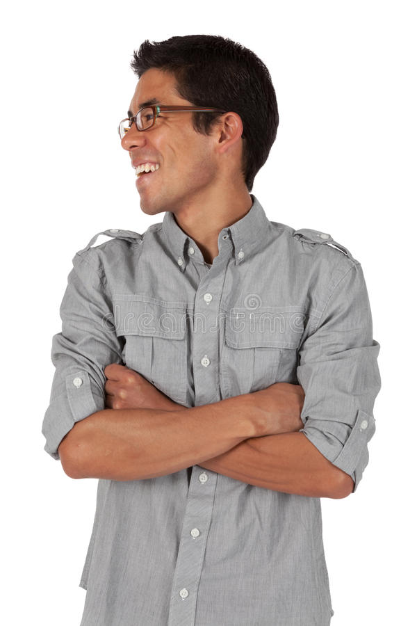 Man Folding Arms And Looking To The Side Royalty Free Stock Photography