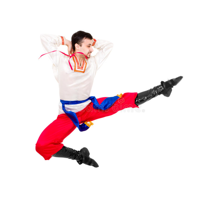 Download Man In Folk Ukrainian Costume Jumping Stock Photo - Image: 17293698