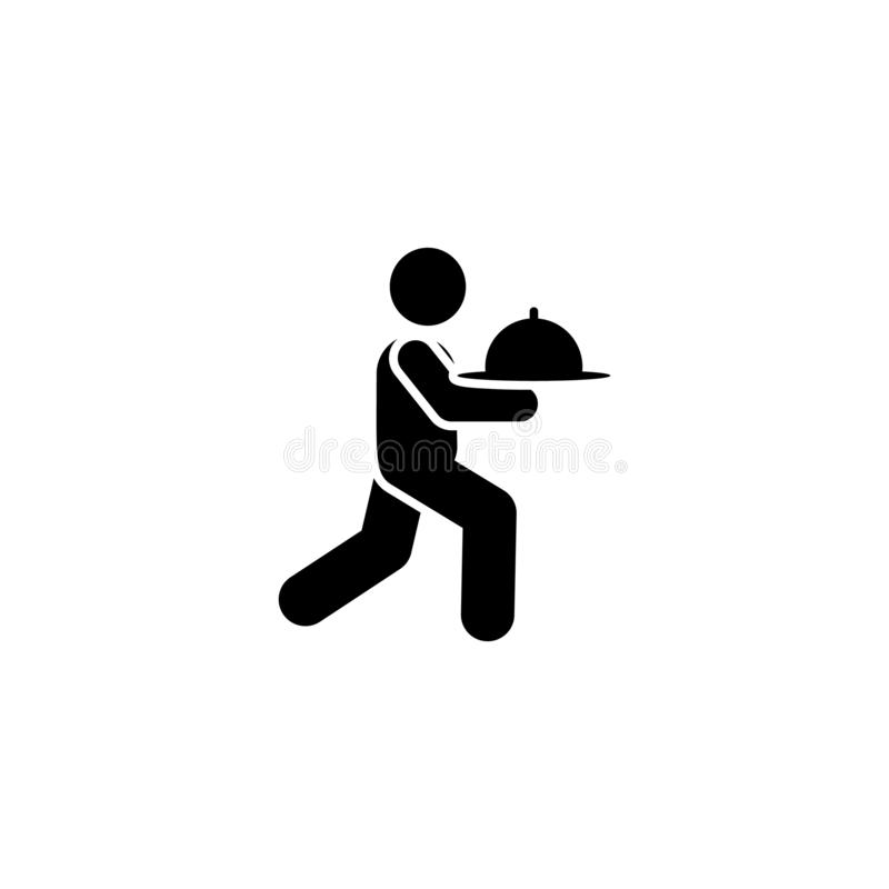 Man, food, services, hotel icon. Element of hotel pictogram icon. Premium quality graphic design icon. Signs and symbols vector illustration
