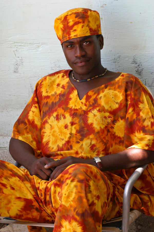 Man från den Labadee ön, Haiti arkivbild