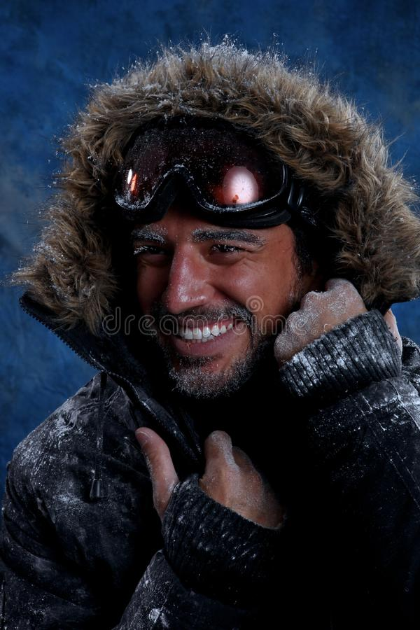 Download Man Freezing In Cold Weather Stock Photo - Image of beautiful, coldy: 33156086