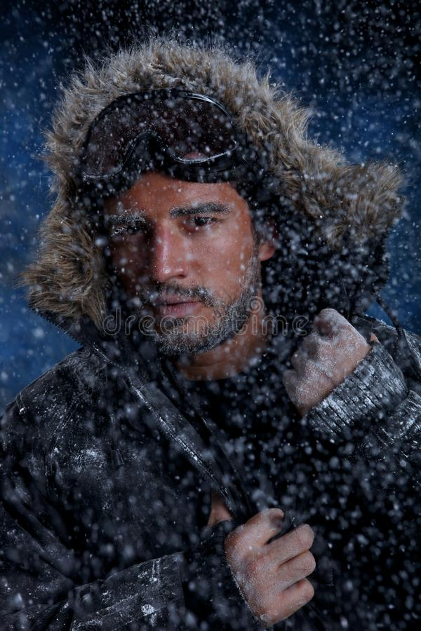 Download Man Freezing In Cold Weather Stock Photo - Image: 33156092