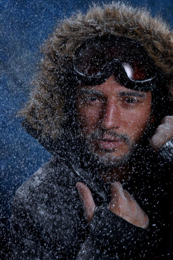 Download Man Freezing In Cold Weather Stock Image - Image: 33156133