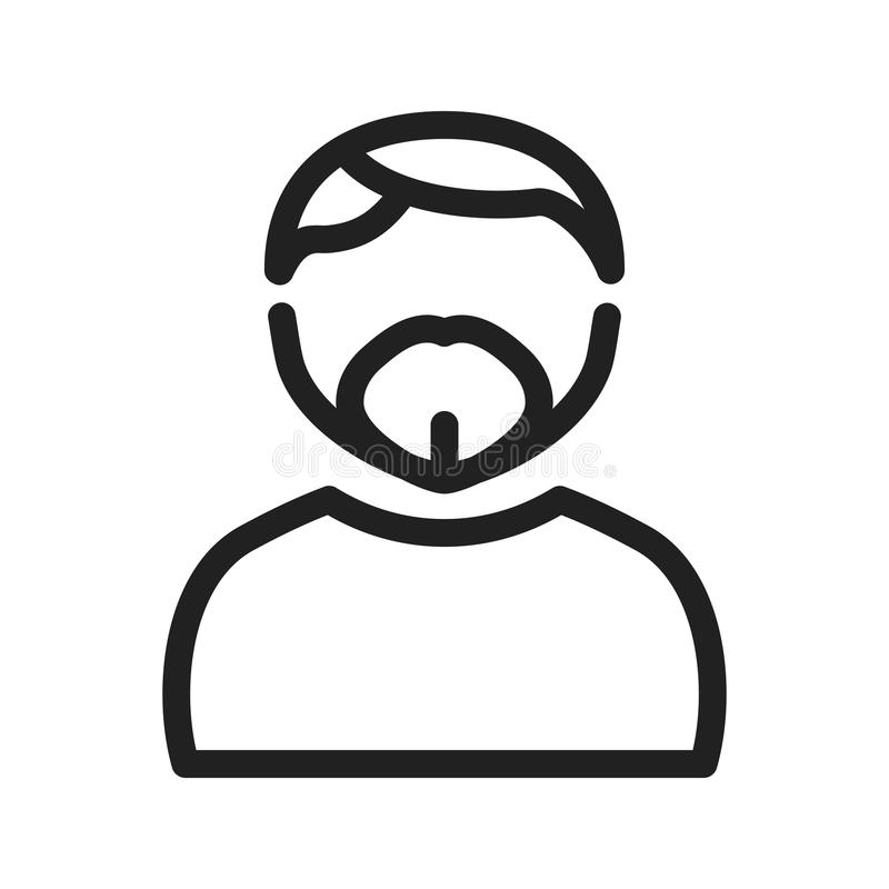 Man in French Goatee. Man, goatee, french icon image. Can also be used for Avatars. Suitable for mobile apps, web apps and print media royalty free illustration