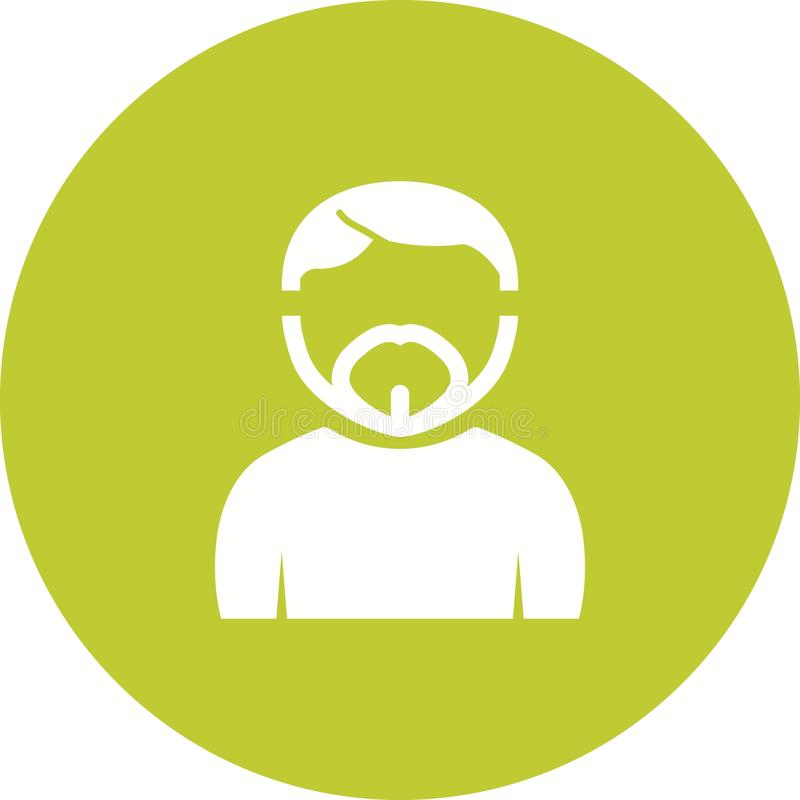 Man in French Goatee. Man, goatee, french icon vector image. Can also be used for Avatars. Suitable for mobile apps, web apps and print media royalty free illustration
