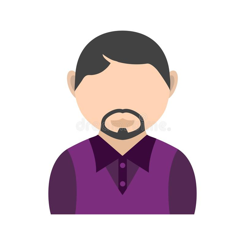 Man in French Goatee. Man, goatee, french icon vector image. Can also be used for Avatars. Suitable for mobile apps, web apps and print media stock illustration