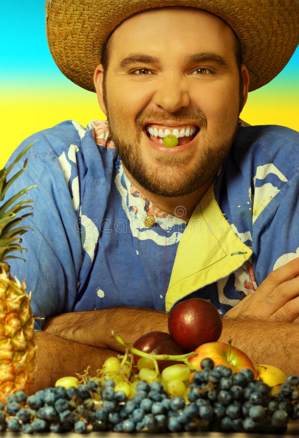 Download Man with fruit stock image. Image of carribean, humor - 22072975