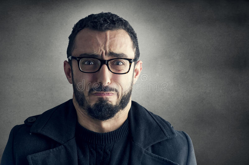 Man with Frustrated Expression stock images