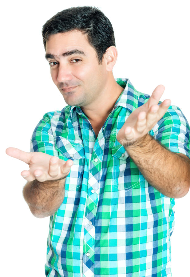 Download Man With A Funny Excited Expression Stock Image - Image: 39700091