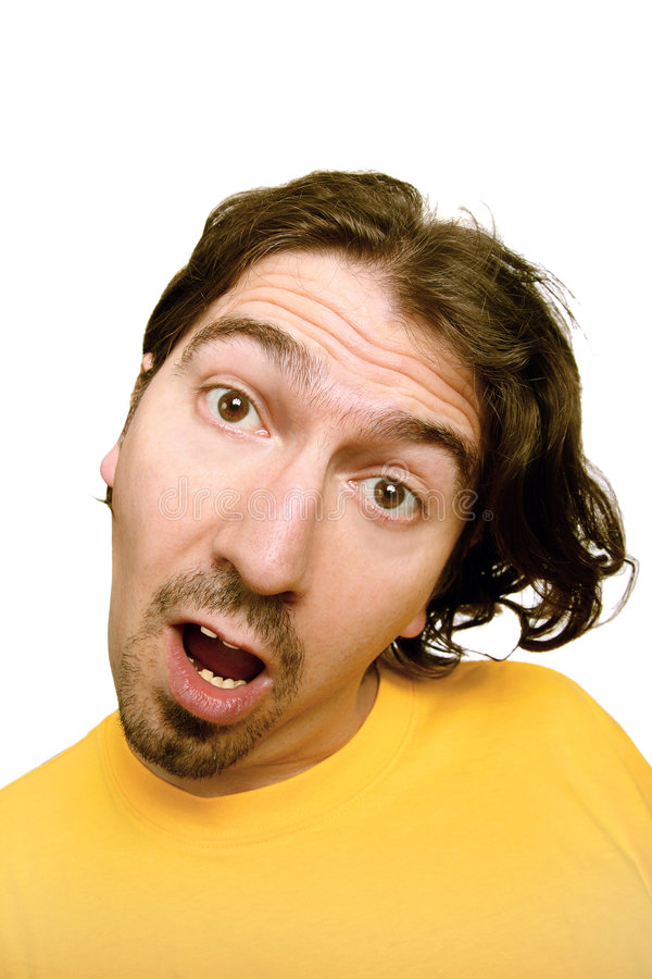 Download Man with a funny face stock image. Image of hairy, funny - 6446801