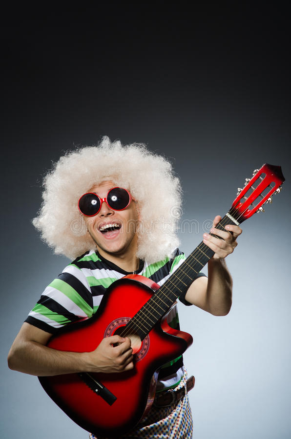 Man with funny haircut stock photos