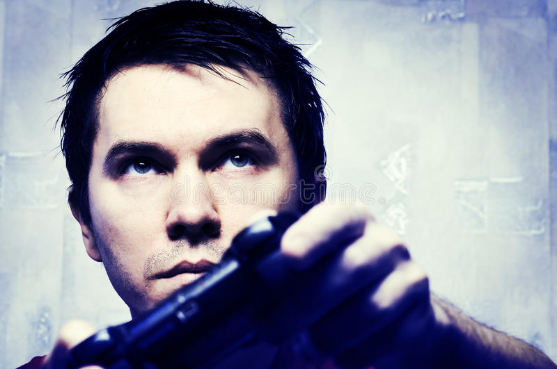 Download Man With Game Pad. Stock Photos - Image: 13857383