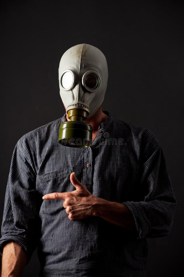 Man In A Gas Mask Stock Photos