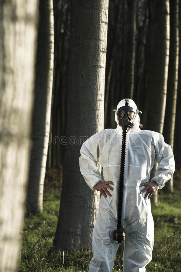 Download Man with gas mask stock image. Image of 35, suit, male - 26572703