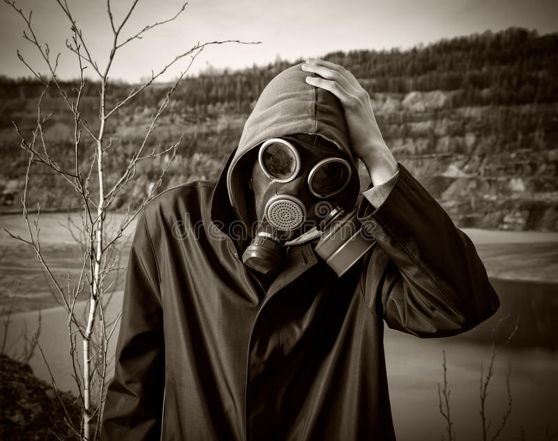 Download A man in a gas mask stock image. Image of hood, concepts - 27174843