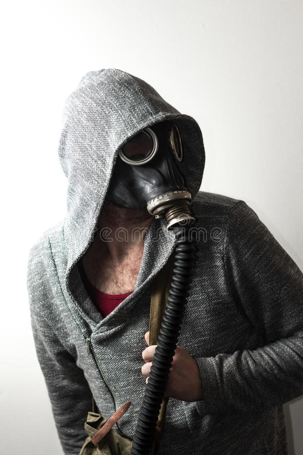 Man Gas Mask royalty free stock photography