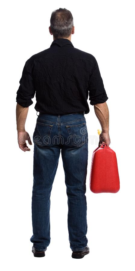 Download Man with gasoline stock image. Image of standing, making - 2404055