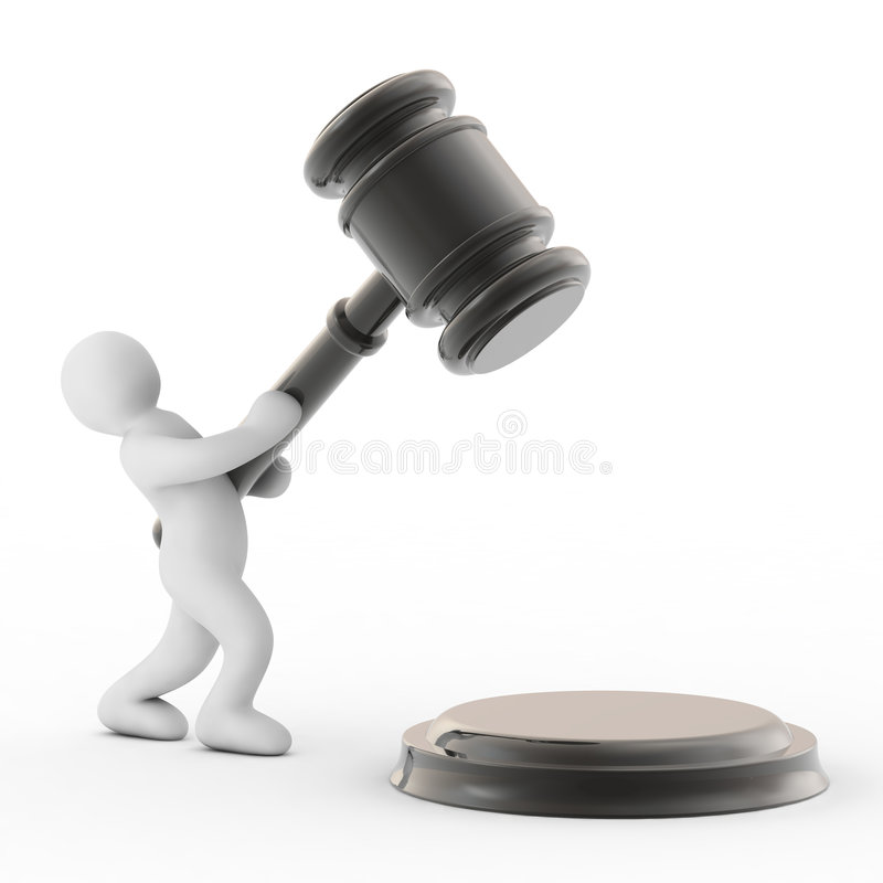 Download Man and gavel stock illustration. Image of business, auction - 6605856