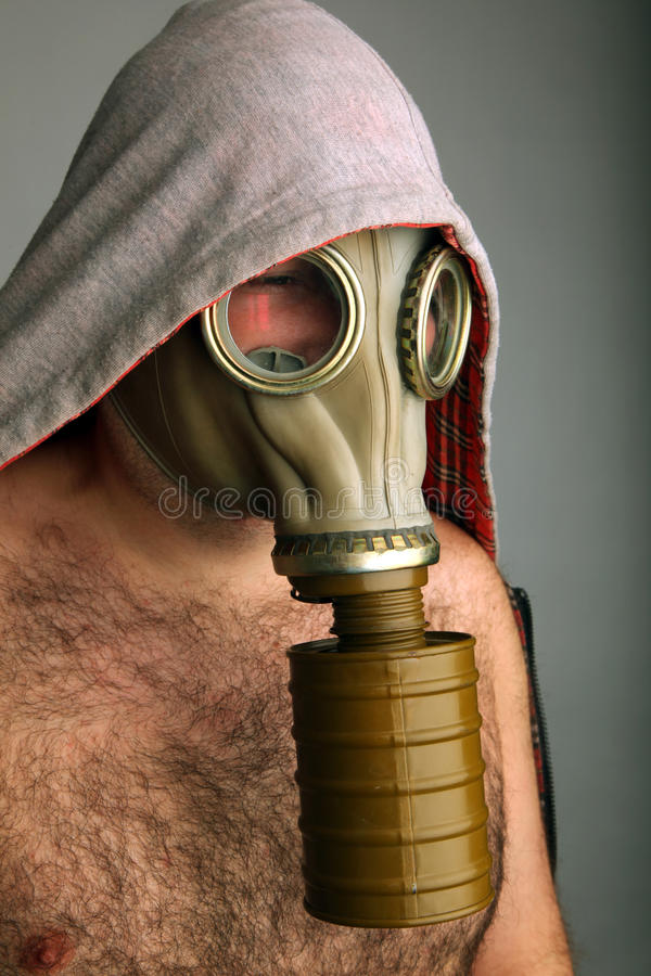 Download Man with gaz mask stock image. Image of single, respirator - 13214769