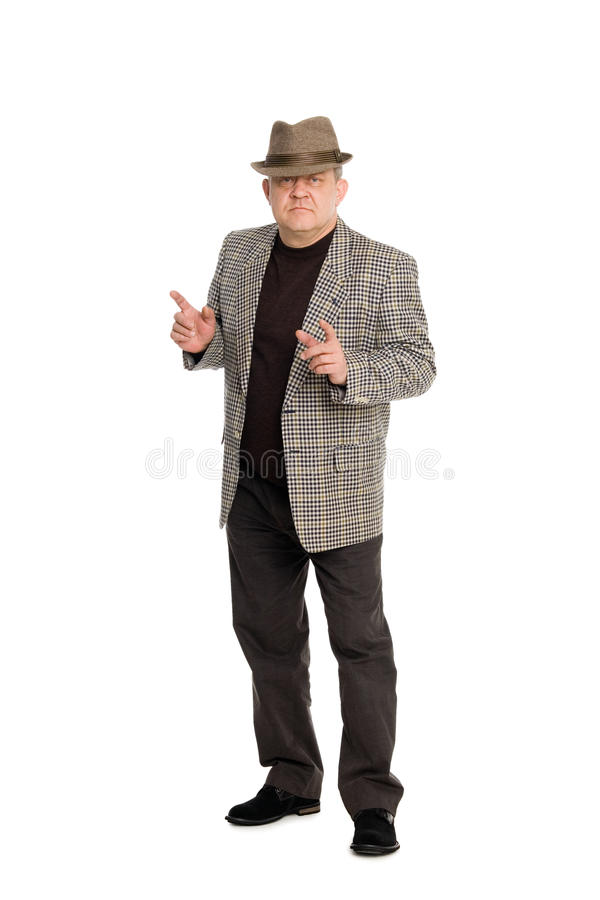 Man gesticulating with his hands. stock image