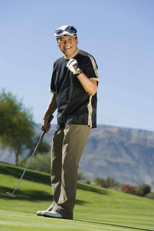 Download Man Gesturing On Golf Course Stock Image - Image: 13584701